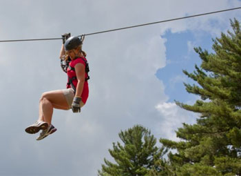 zip-line near Littleton NH