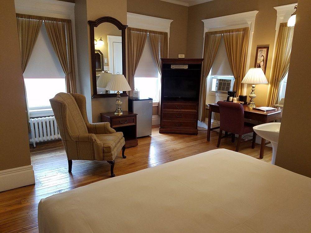 Superior King Room at Thayers Inn in Littleton NH