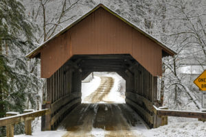 When checking out easy hikes in the White Mountains, don't miss the Boulder Loop trail near the Albany covered bridge.
