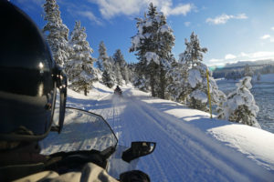 White Mountains snowmobiling